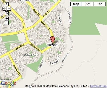 Location Map for Hackett