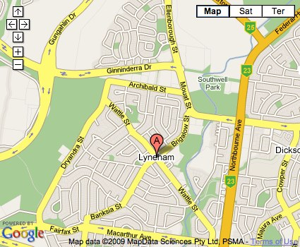 Location Map for Lyneham
