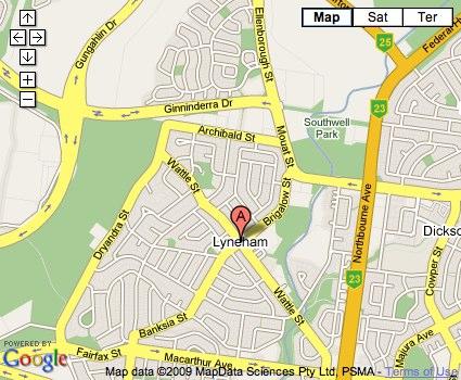 Location Map for Lyneham