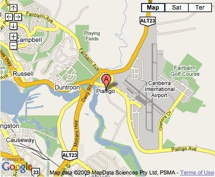 Location Map for Pialligo