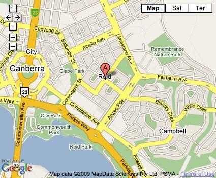 Location Map for Reid