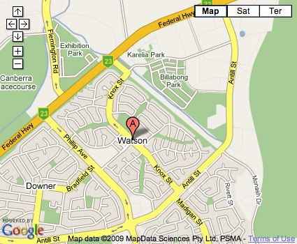 Location Map for Watson