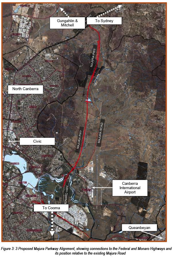 Proposed Majura Parkway Alignment