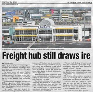 20090630 Chronicle - Freight hub still draws ire