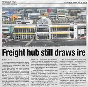 20090630 Chronicle - Freight hub still draws ire