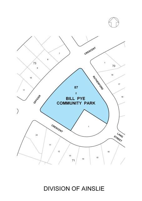 Location Map - Proposed Bill Pye Community Park