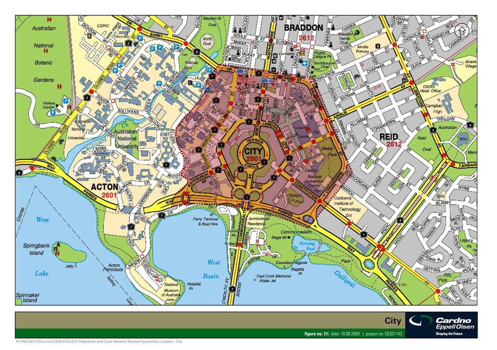 Pedestraian Cycling Study location - City