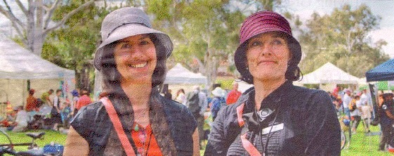 Inner North SEE Change representative Barbara Chevalier and Edwina Richardson from Urban Waterways were both happy with the turnout for Saturday's fair. (Source: The Chronicle)