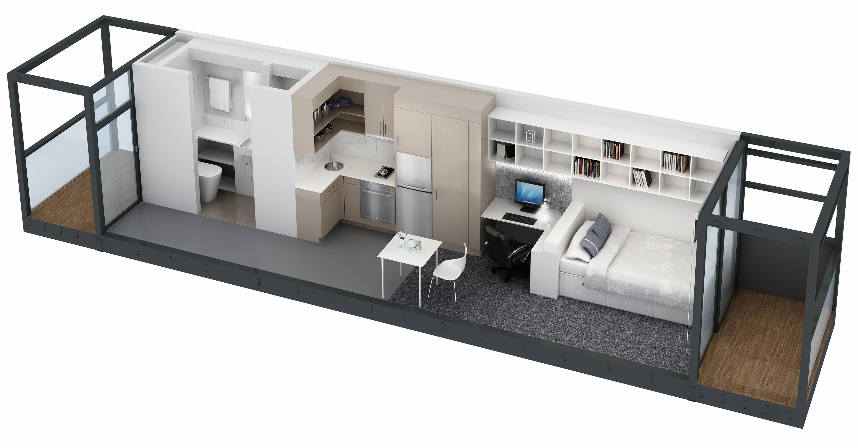 Modular Living abc news: compact living (anu modular student accomodation