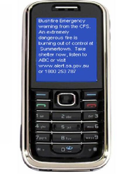SMS Bushfire Warning