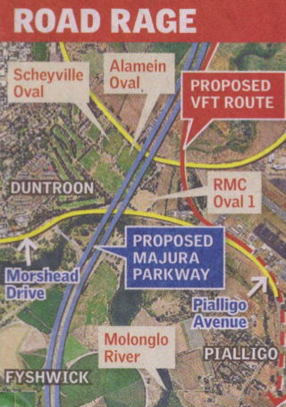 Impact of Majura Parkway on Duntroon Ovals