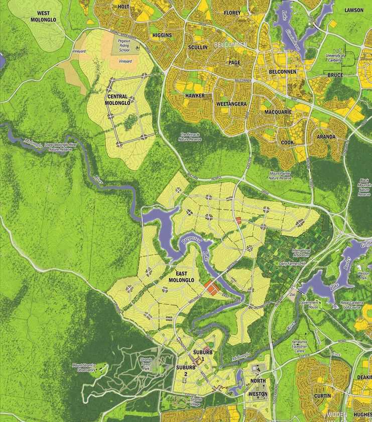 Suburb plan for Molonglo