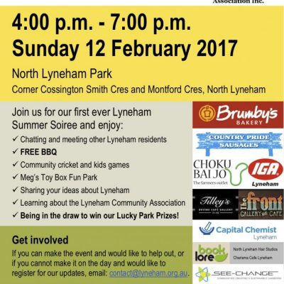 Lyneham Summer Soiree, 12 February