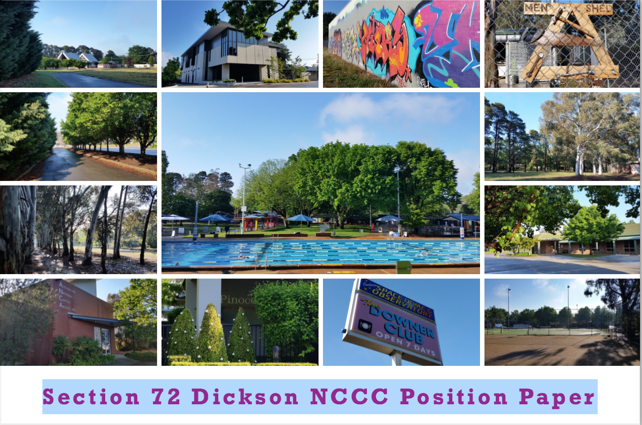Section 72 Dickson –  NCCC Advocates for Community/Cultural Use