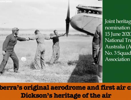 Heritage Nomination – Dickson Aerodrome